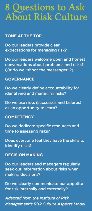 8 questions to ask about risk culture