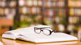 KNOWLEDGE GLASSES ON BOOK 317X177