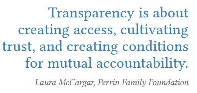 Transparency quote #3